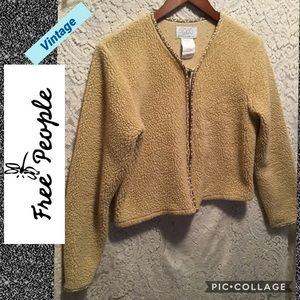 Free People Vintage! SZ Medium zip up cardigan
